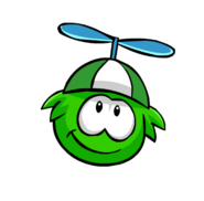 GreenPropellerCap Puffle
