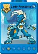 Lady frostbite player card