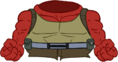 Red Hulk Bodysuit