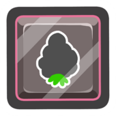 Black O'berry Pin icon