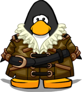 Captain's Greatcoat on a Player Card