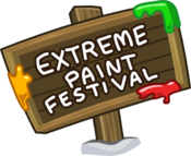 Extreme Paint Festival sign
