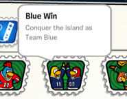 Blue win stamp book