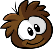 Brown PuffleGrinning
