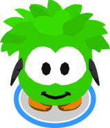 Green Puffle Costume in-game