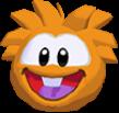 Orange puffle 3d icon