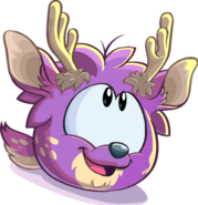 Puffle ciervo morado 1