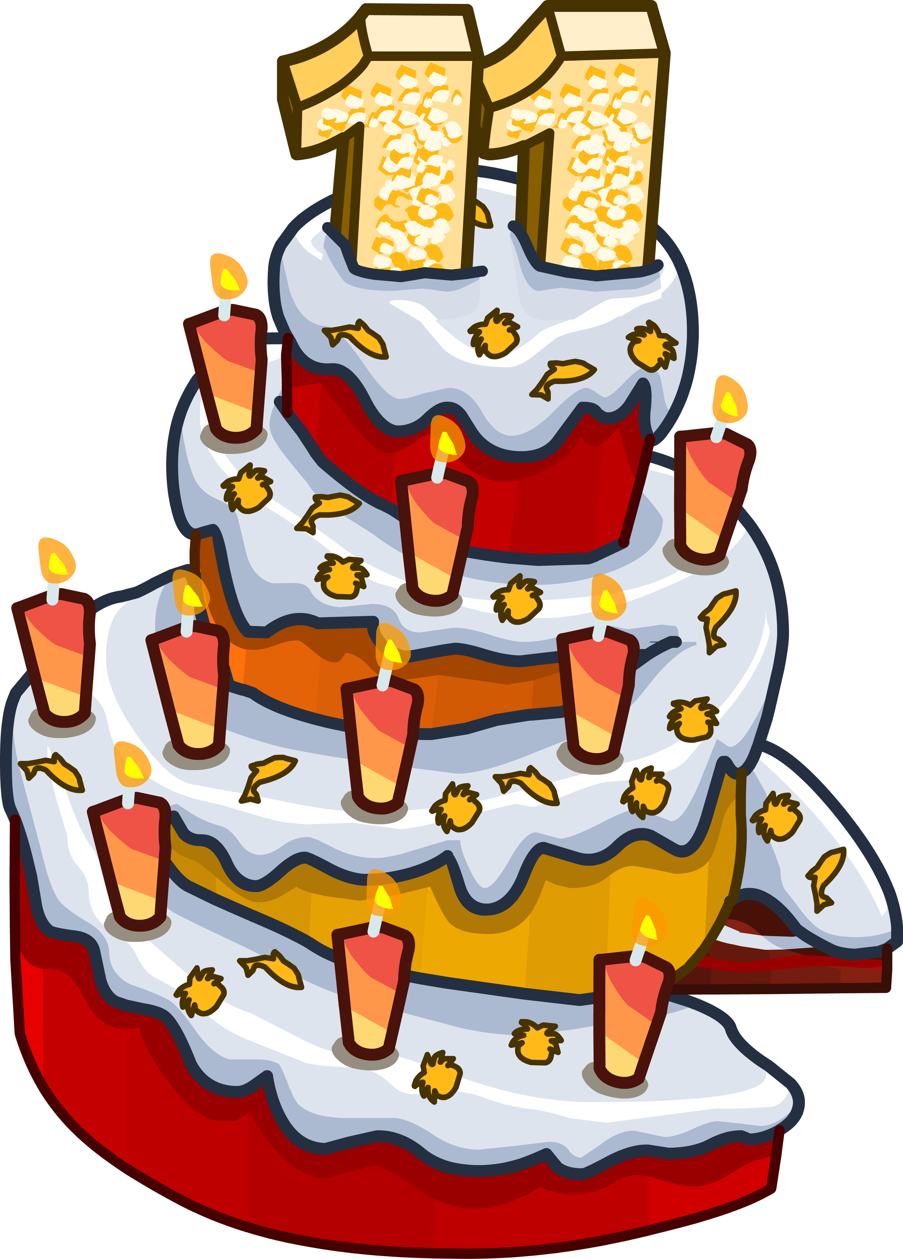 image 11th anniversary party cake png club penguin wiki fandom