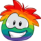 Puffle 2014 Transformation Player Card Rainbow