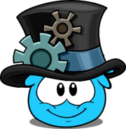 Gear Hat in Puffle Interface