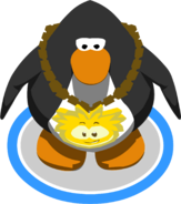 Gold Puffle Chain in-game
