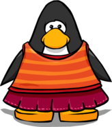 Layered Lava Outfit from a Player Card