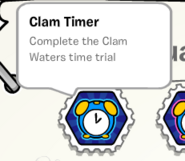 Clam timer stamp book