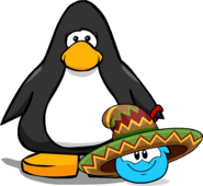 Sombrero Puffle Player Card