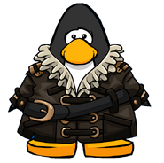 Swashbuckler's Leather Coat from a Player Card