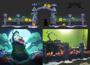 Halloween Panic Concept