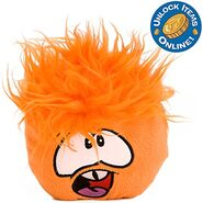 Orange puffle plush Series 5