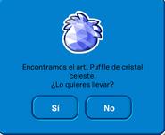 Pin de Puffle Cristal Celeste al encontrarlo