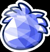 Puffle Cristal Azul Pin