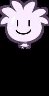 White Puffle Balloon icon