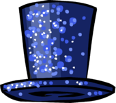 Dazzling Blue Top Hat