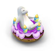 Pingüino en Crucero Pastel