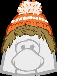 Gorro Naranja con peluca icono