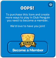 Old Membership Popup