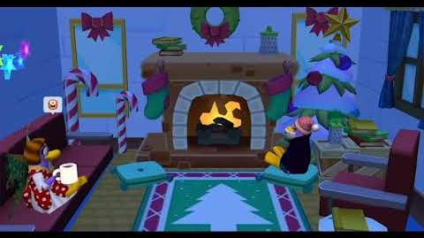 Relax by the Yule Log Disney Club Penguin Island