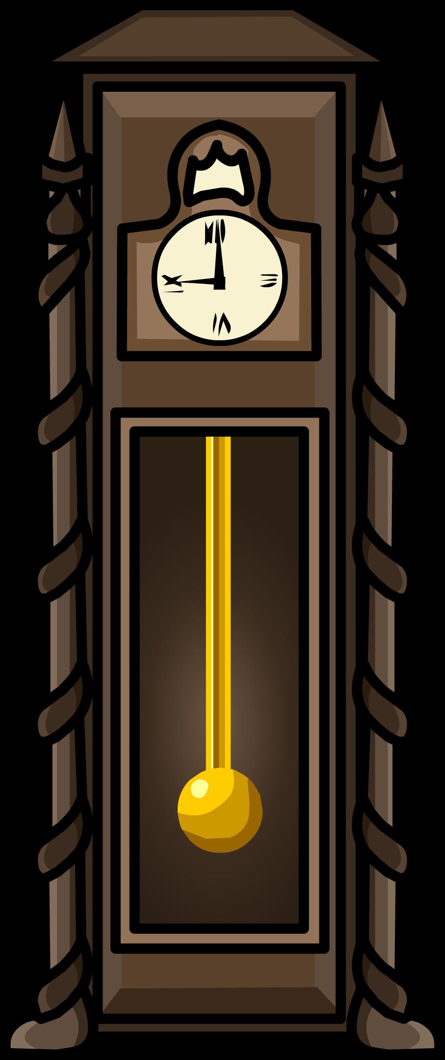 Antique Clock Furniture Icon