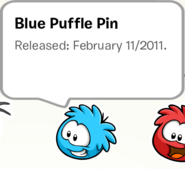 Blue Puffle Pin Stampbook