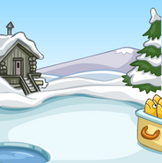 Ice Fishing Background