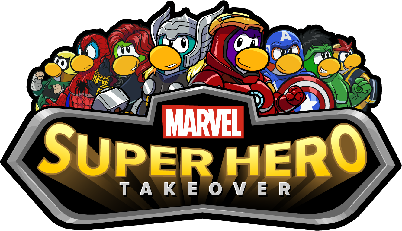 Image - Marvel Super Hero Takeover Party Logo.png | Club Penguin ... for marvel heroes logo png  299kxo