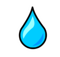 Water Droplet Pin