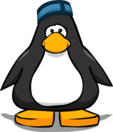 Puffle Hotel Cap from a Player Card