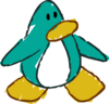 Doodle Dimension penguin Aqua
