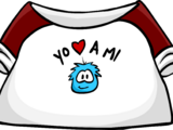 "Camiseta ""Yo Amo a mi Puffle"""