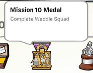 Mission 10 medal stamp book