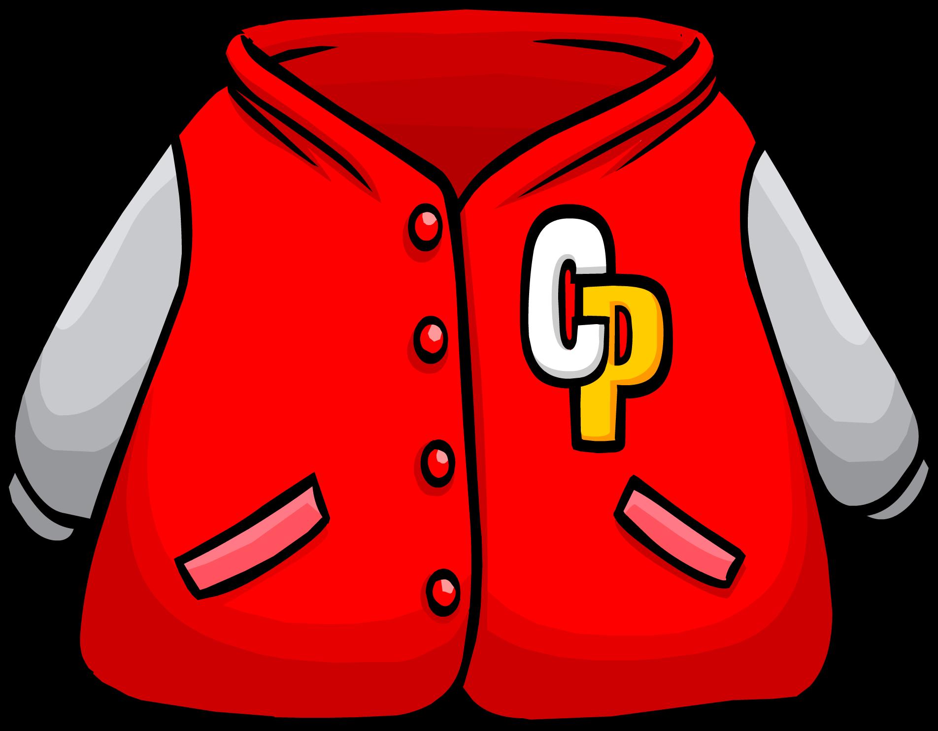 Red Letterman Jacket Club Penguin Wiki Fandom Powered