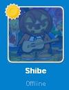 Shibe desconectado en la Lista de Amigos