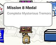 Mission 8 medal stamp book