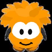 Orange Puffle Costume ingame
