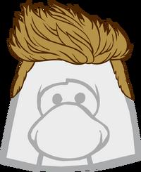 Peinado Rubio en Punta icono