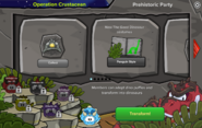 Prehistoric Party 2016 interface page 1