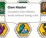 Clam master stamp book