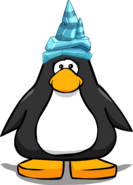 Ice party hat player card