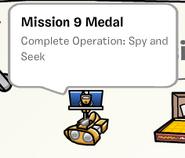 Mission 9 medal stamp book