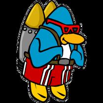 Jet pack surfer