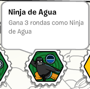 Ninja de agua (card-jitsu agua) (album de estampillas)