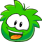 Puffle 2014 Transformation Player Card Green